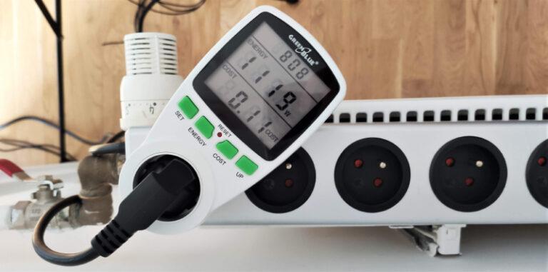 Pomiar poboru prądu klimatyzator przenośny Eberg Qubo Q40NE